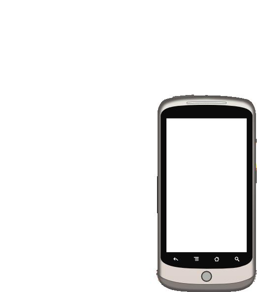 White clipart smartphone. Screen clip art at