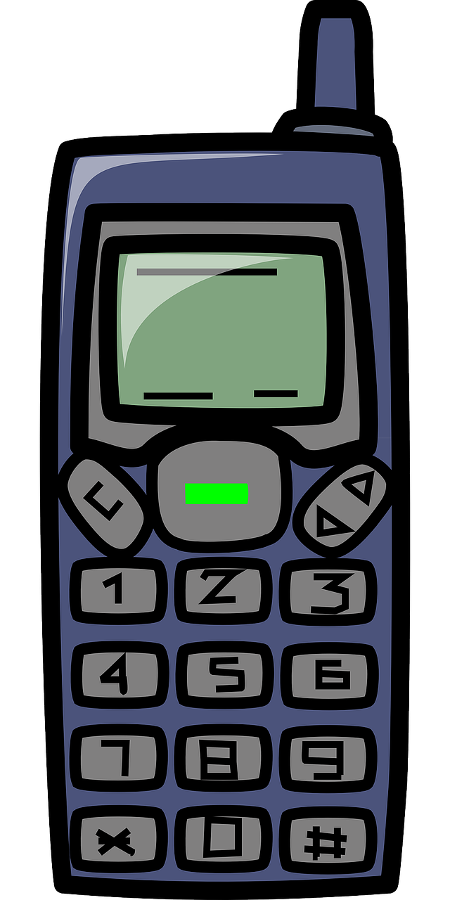 Cellphone clipart solid thing. Mobile telephone collection free
