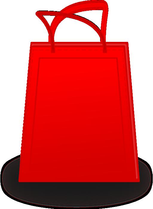 Bag i royalty free. Phone clipart shopping