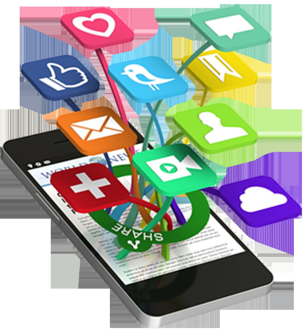 Phone clipart social media. Free on dumielauxepices net