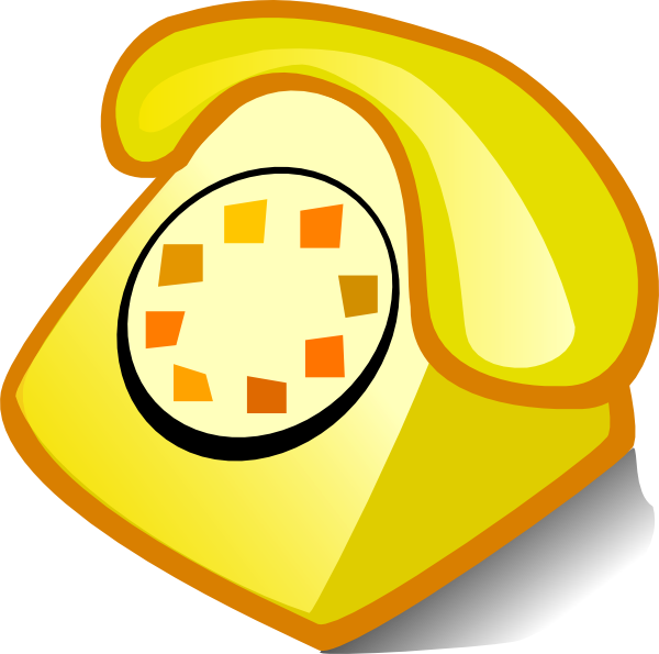 Telephone clip art at. Phone clipart yellow