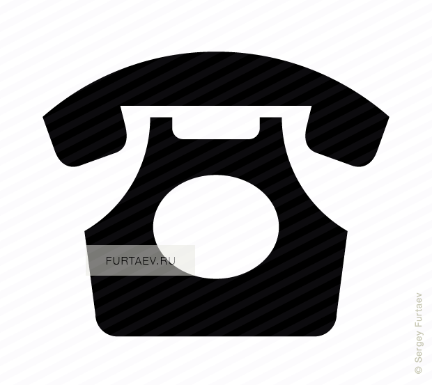 Icon of classic rotary. Phone vector png