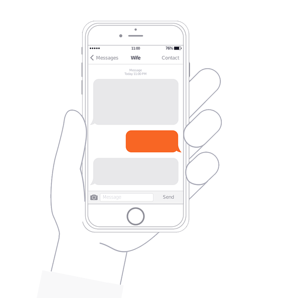 Iphone with transparent background. Phone vector png