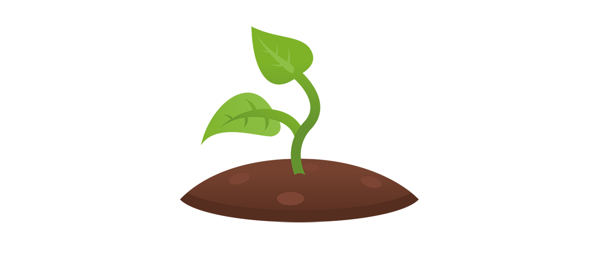 Dirt clipart plant. Shoots shoot in soil