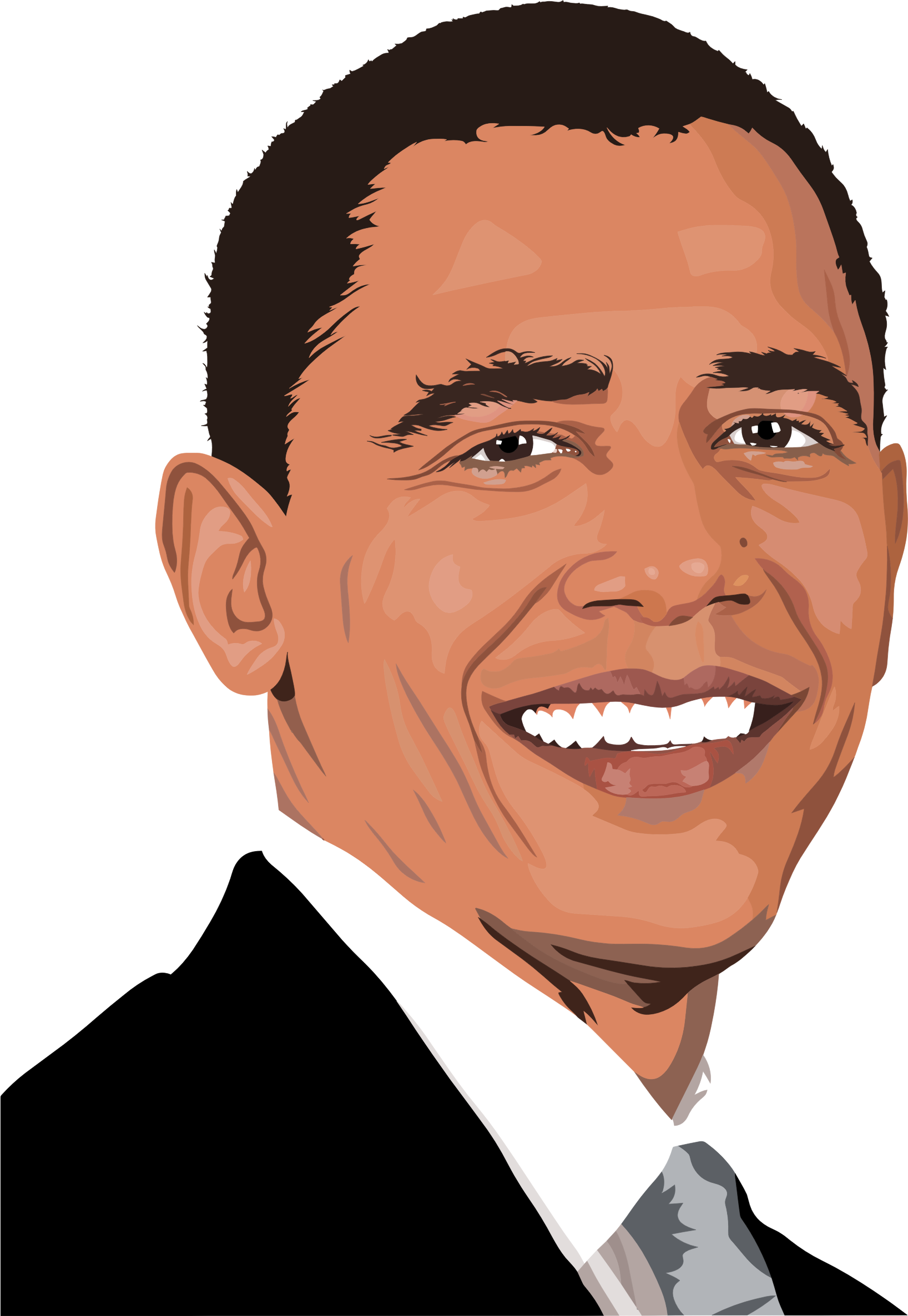 Realistic barack obama big. Photo clipart portrait