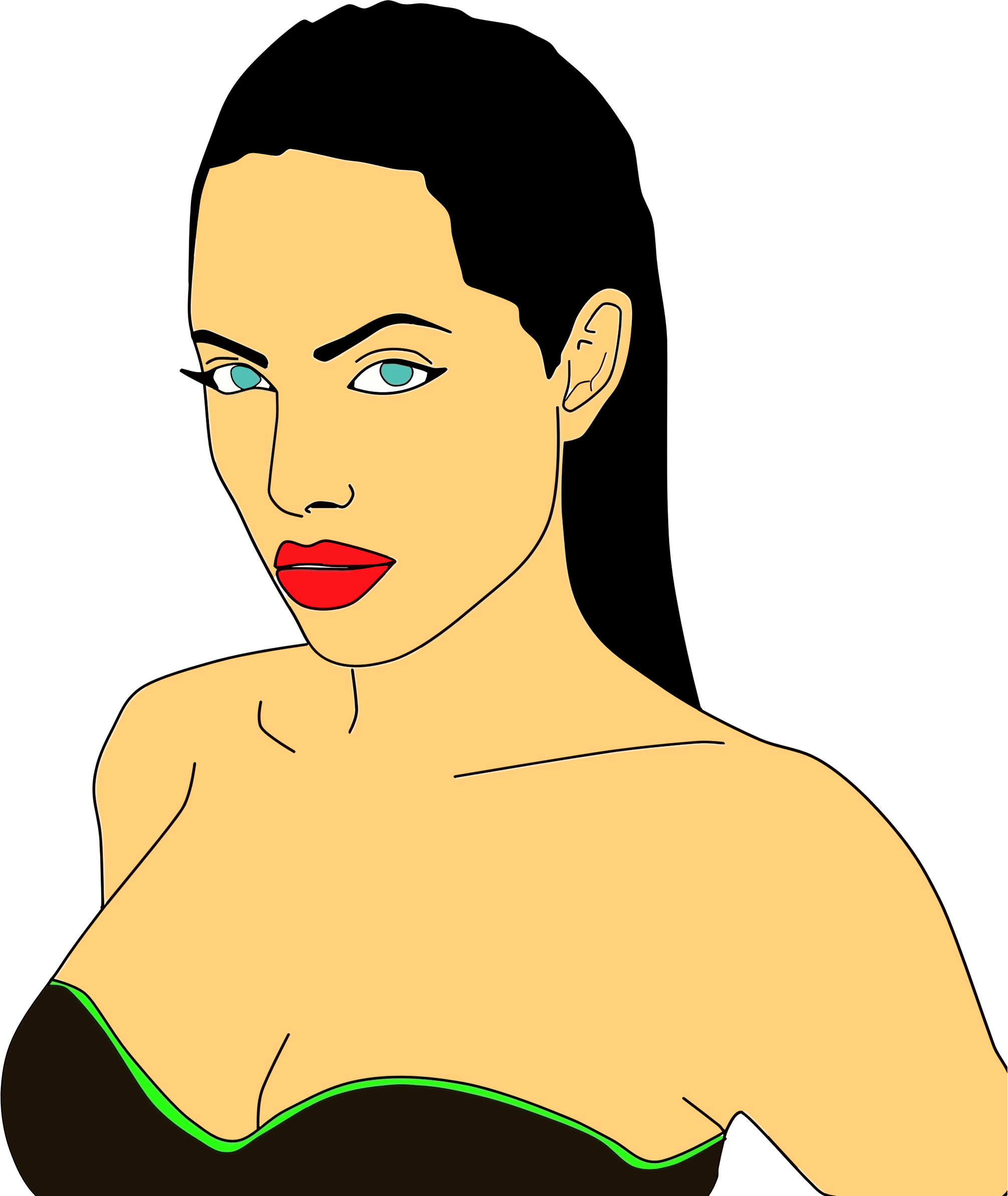 Angelina jolie big image. Photo clipart portrait