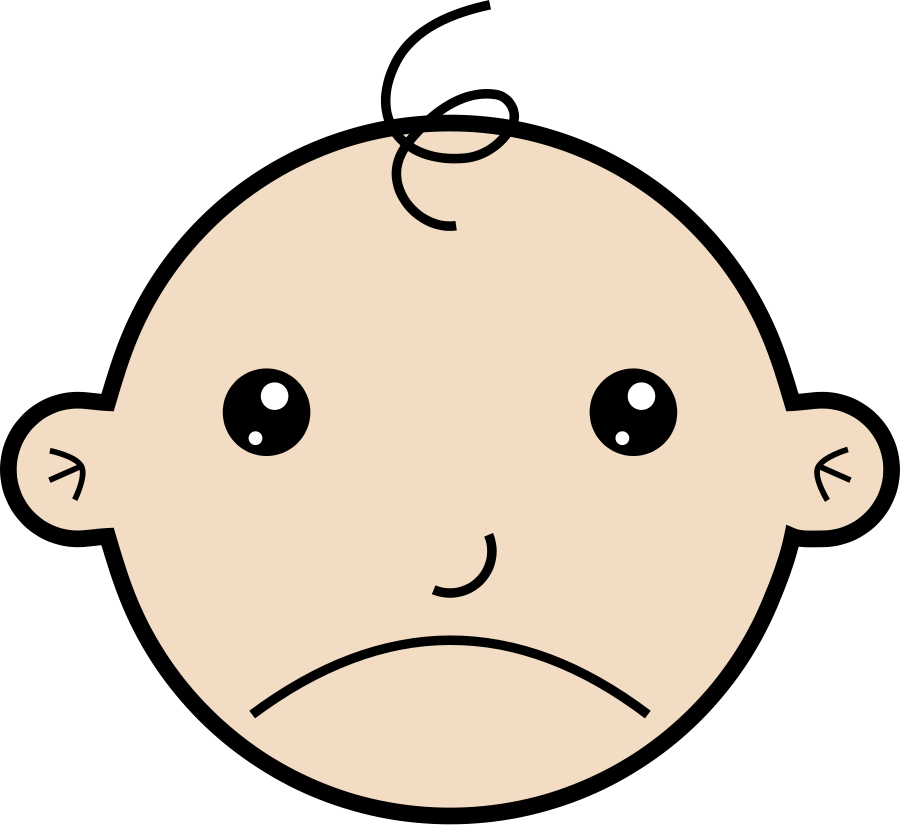 Baby vector clip art. Sad clipart bread