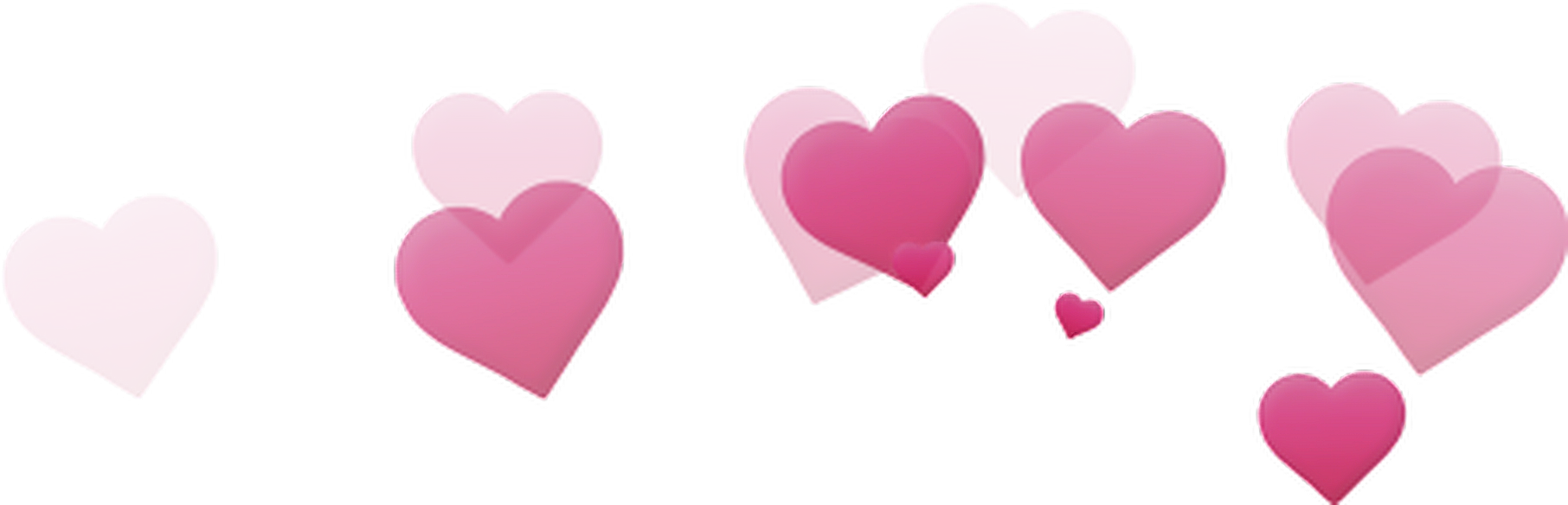 Tumblr pink filter heartseffect. Photobooth hearts png