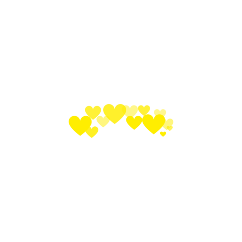 Photobooth hearts png. Made by me yellow
