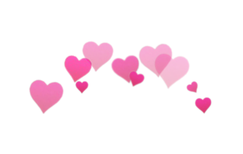 Photobooth hearts png. Freetoedit image by location
