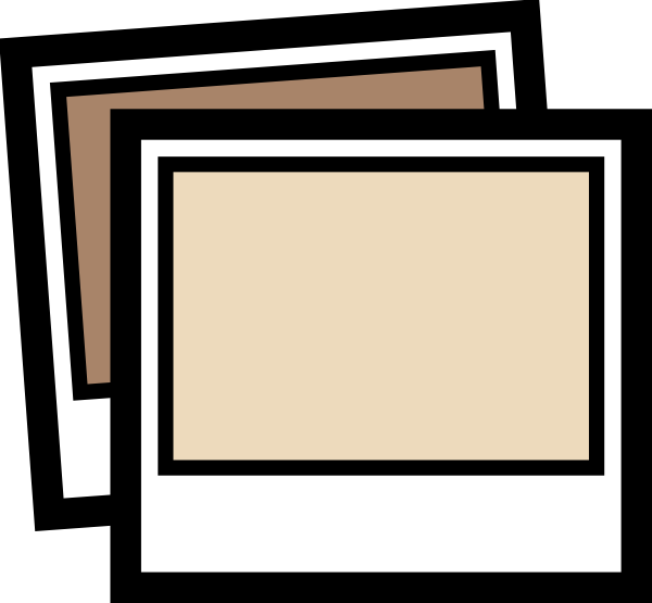 Photograph clipart. Brown clip art at
