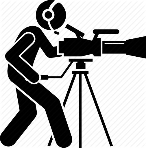 Photography clipart videographer. Camera silhouette video photographer