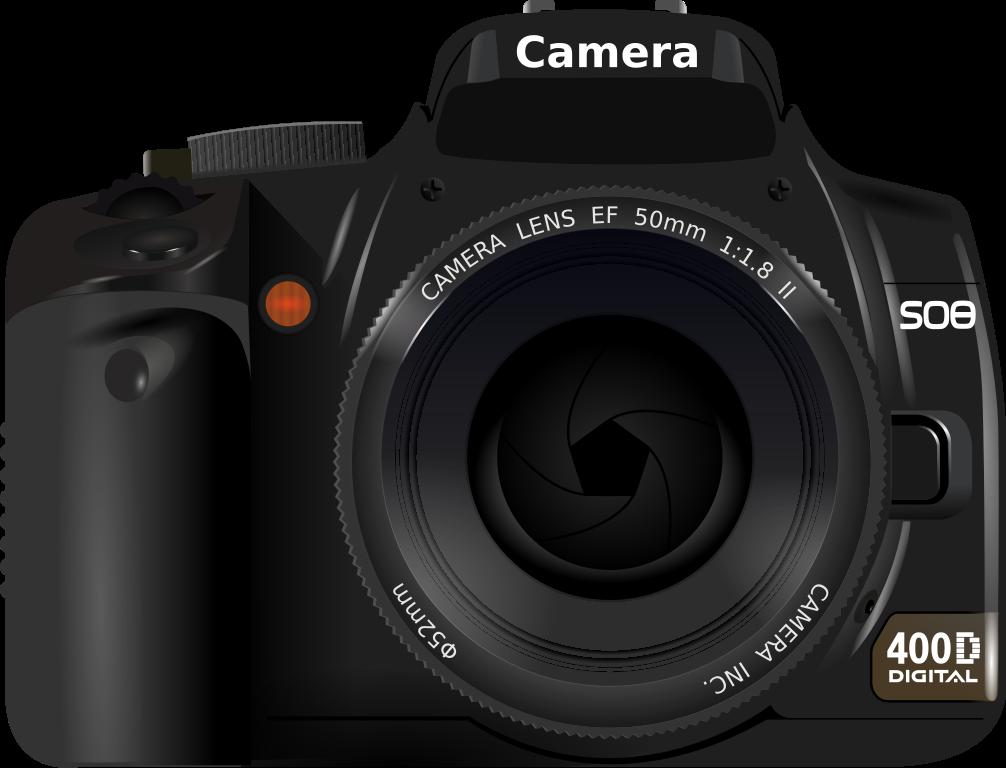 Photograph clipart color camera. File dslr svg wikimedia