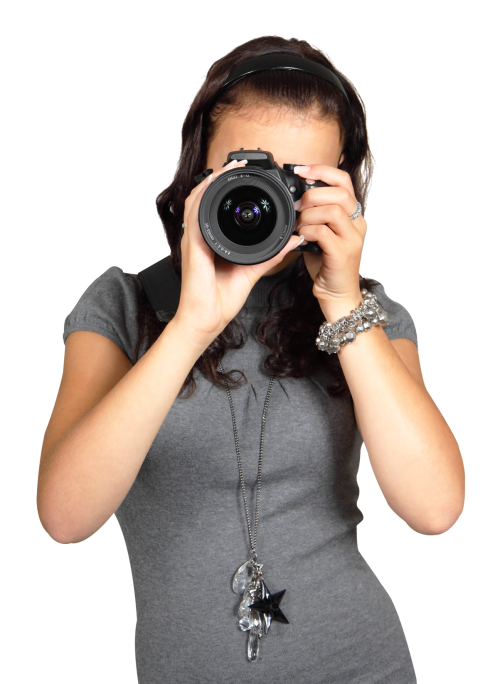 Photography clipart lady photographer. Young woman with digital