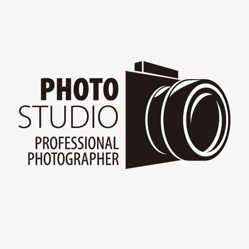 Creative camera magazine vector. Photograph clipart photography logo