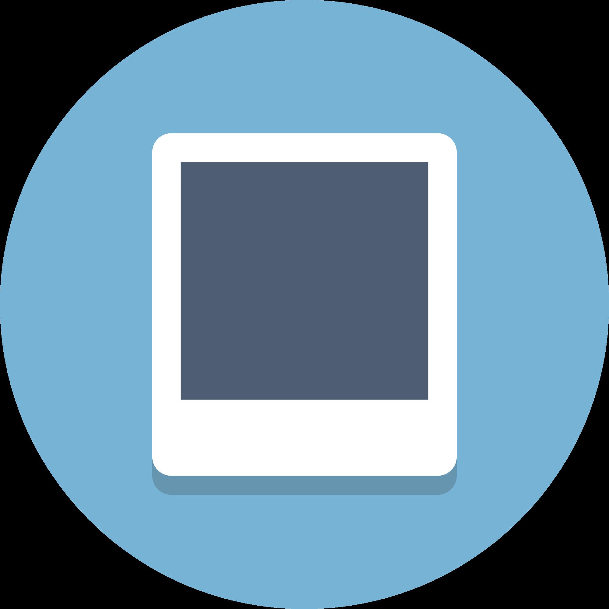 File circle icons svg. Polaroid vector png