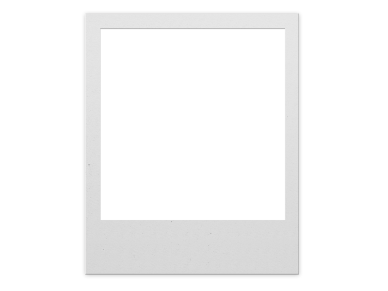 Polaroid border png. Frame for photoshop isolated