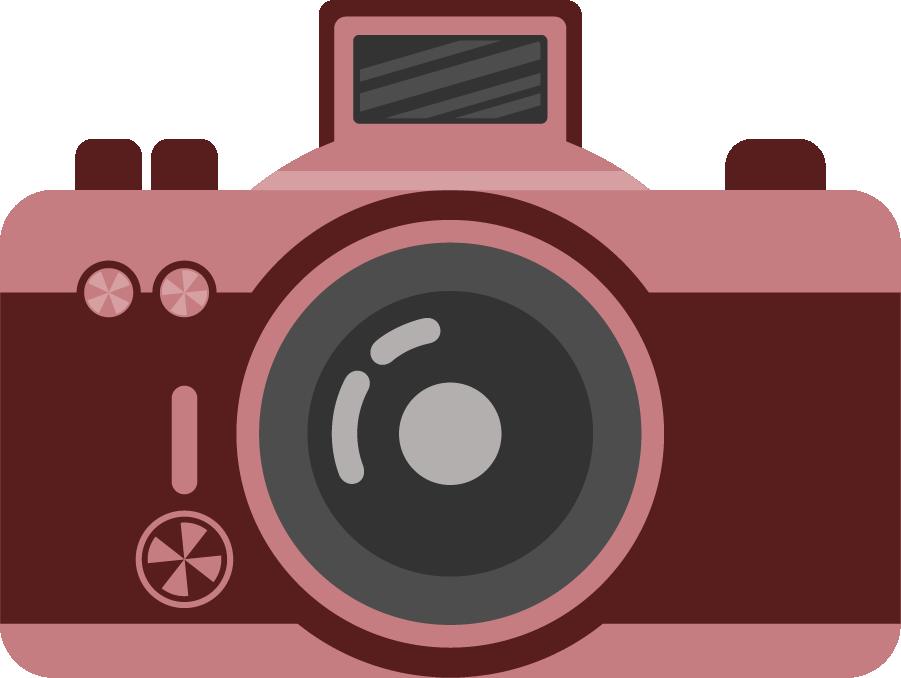 photographer clipart pink camera