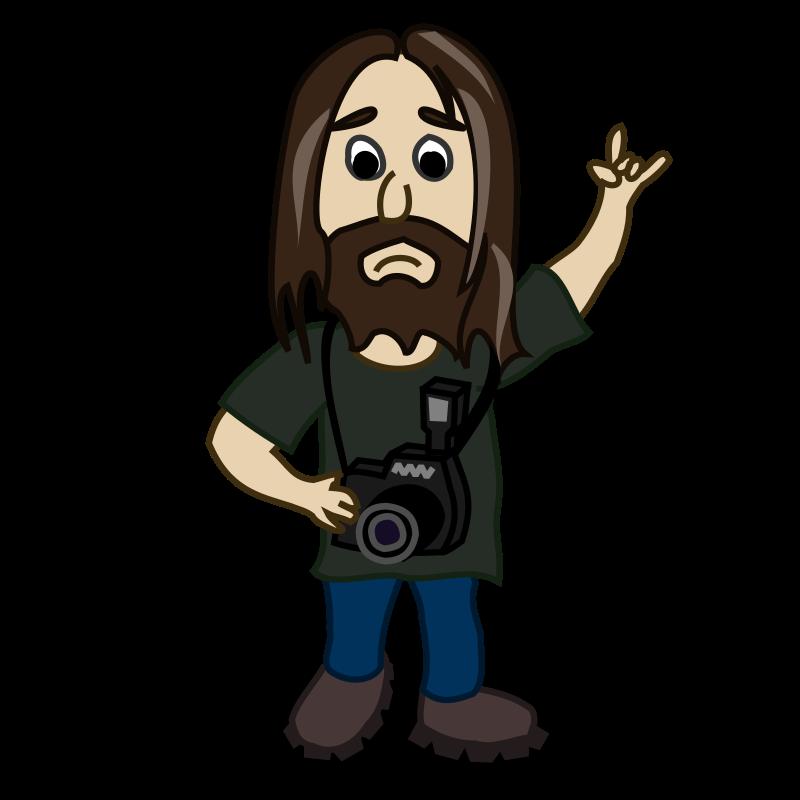 Photographer clipart cartoon. Comic characters medium image