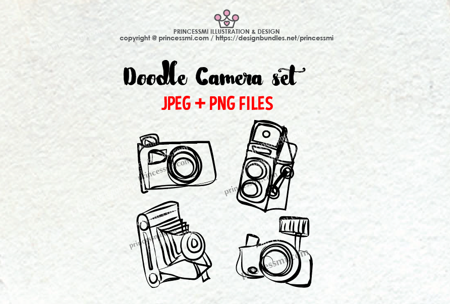 Camera photography . Photographer clipart doodle