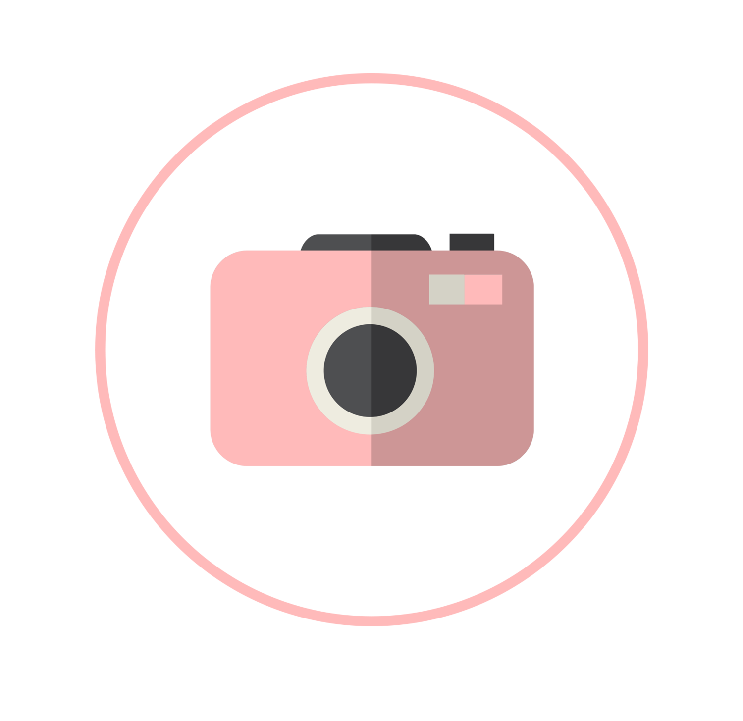 Content artfully social camerapng. Photographer clipart pink camera