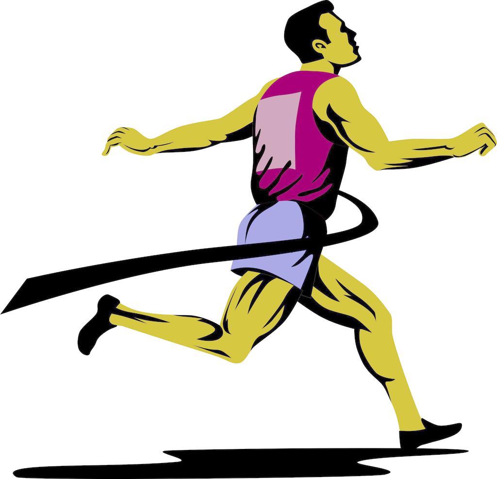 Runner clipart sprinter. Mercedes benz running stock