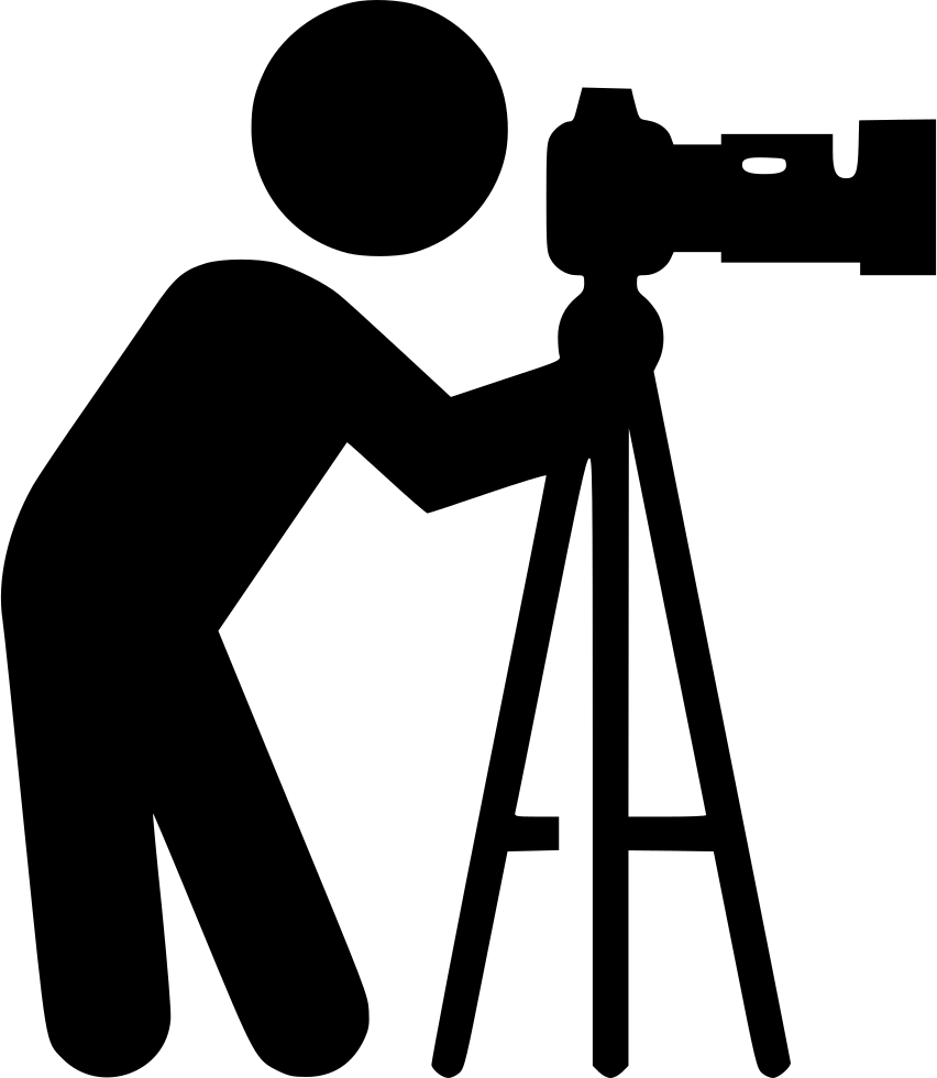 Photographer svg png icon. Photography clipart videographer