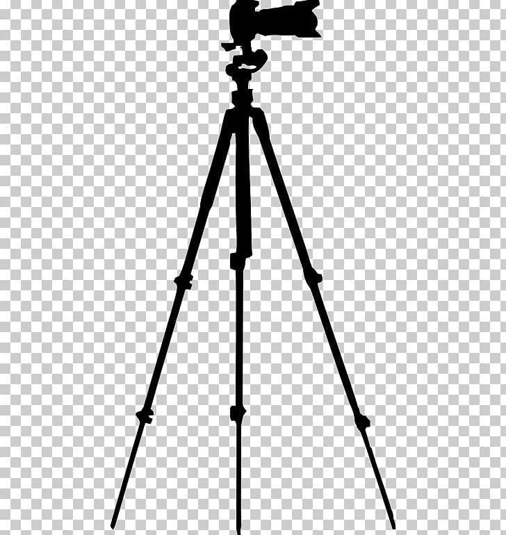 Photographic film camera operator. Photography clipart tripod