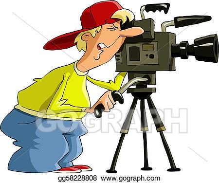 Vector art eps gg. Photography clipart videographer