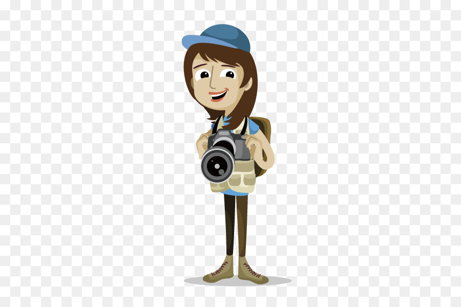 Photographer clipart woman photographer. Cartoon png download free