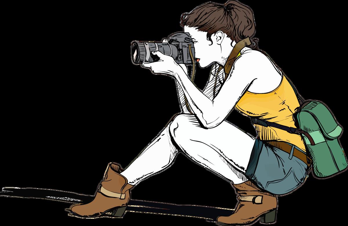 Photography clipart cartoon. Female photographer kraftireader related