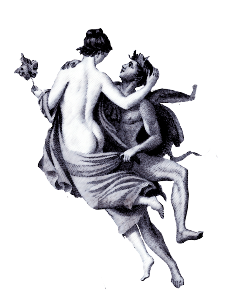 Lovers decoupage by jinifur. Photography clipart vintage