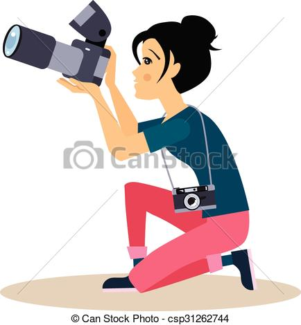 Photography clipart woman photographer. Collection of free download