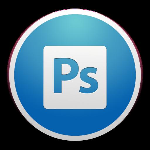 Adobe custom round yosemite. Photoshop icon png
