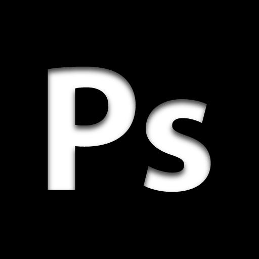 Photoshop icon png. App adobe black icons