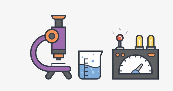 Physics clipart. Laboratory cartoon flat graphics