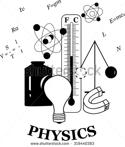Black and white station. Physics clipart