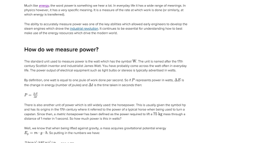 What is power article. Physics clipart explanation