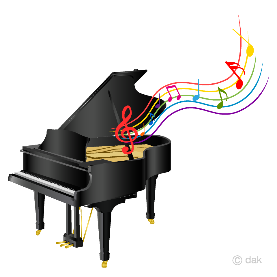 Piano and Music Sheet Clipart Free Picture|Illustoon