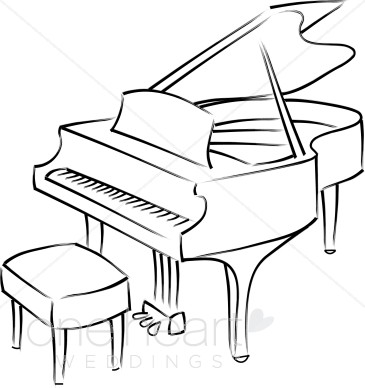 Piano clipart. Grand wedding music