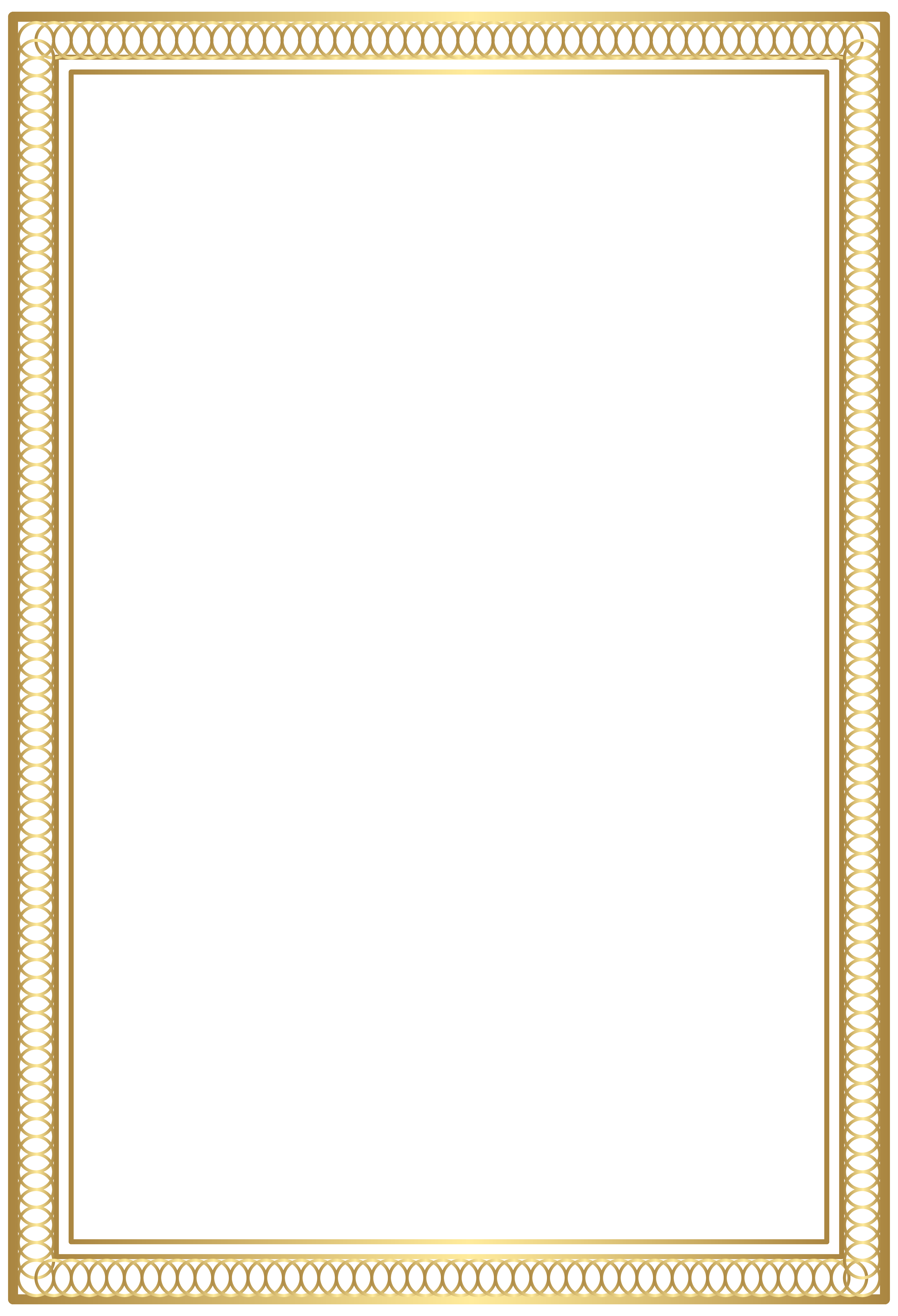 Piano clipart border. Decorative frame gold png