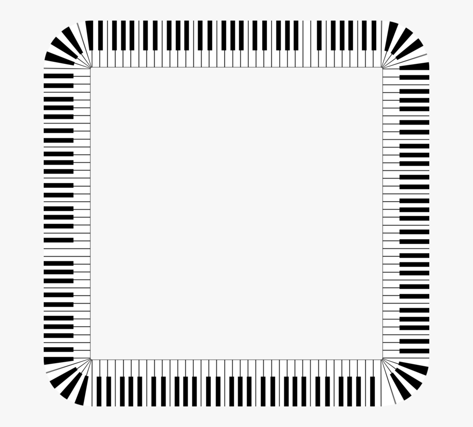 Piano clipart border. Musical keyboard borders and