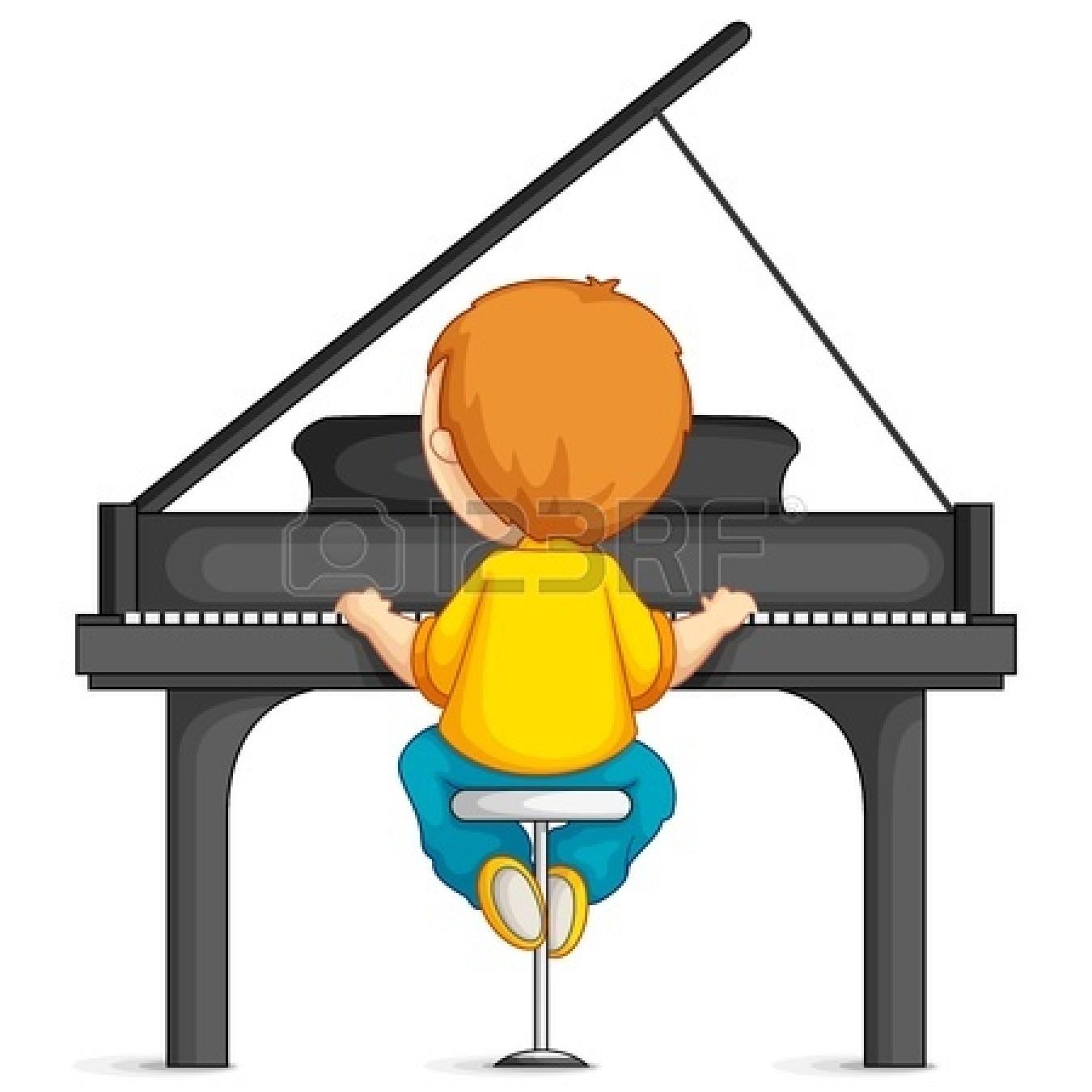 Piano clipart boy. Playing clip art bay