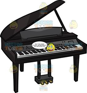 Piano clipart cartoon. An electric baby grand
