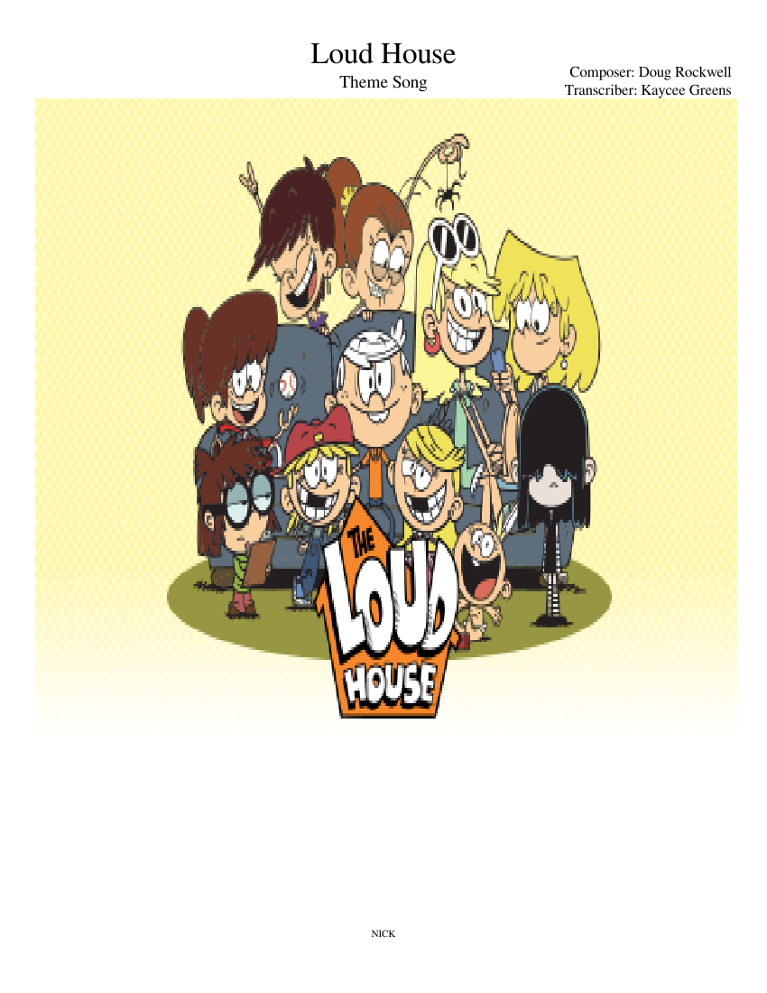 Piano clipart choir note. Loud house sheet music