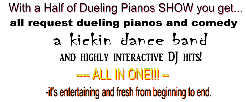 Piano clipart dueling pianos. Half what is it