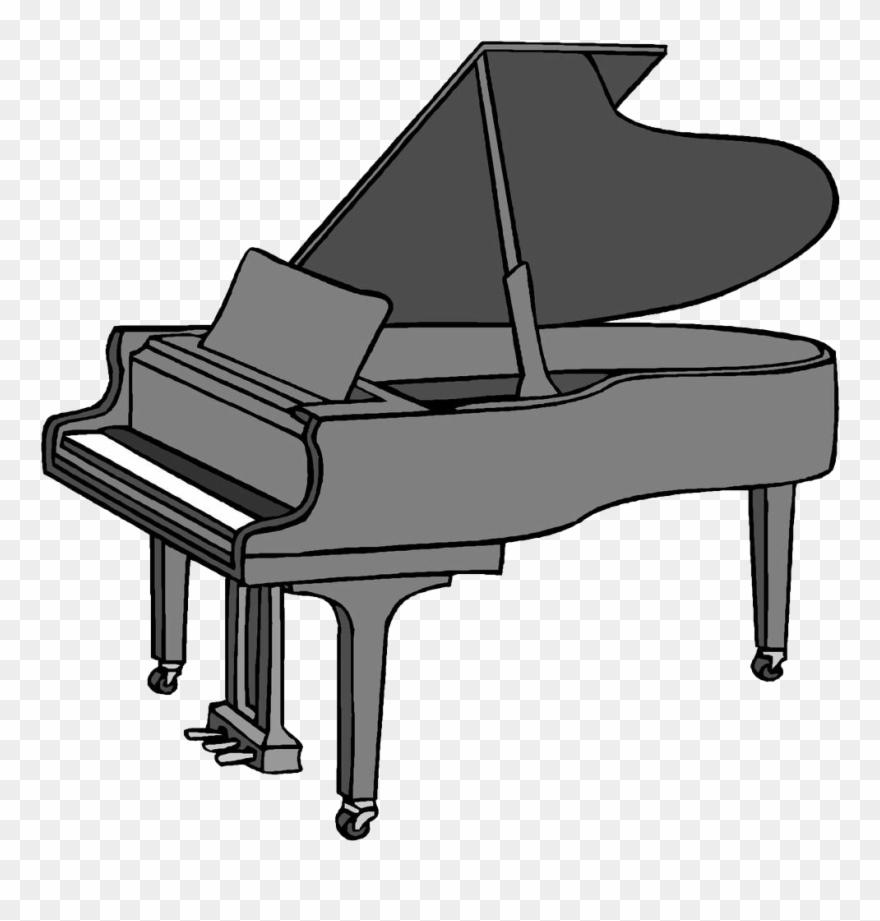 Cartoon drawing clip art. Piano clipart easy