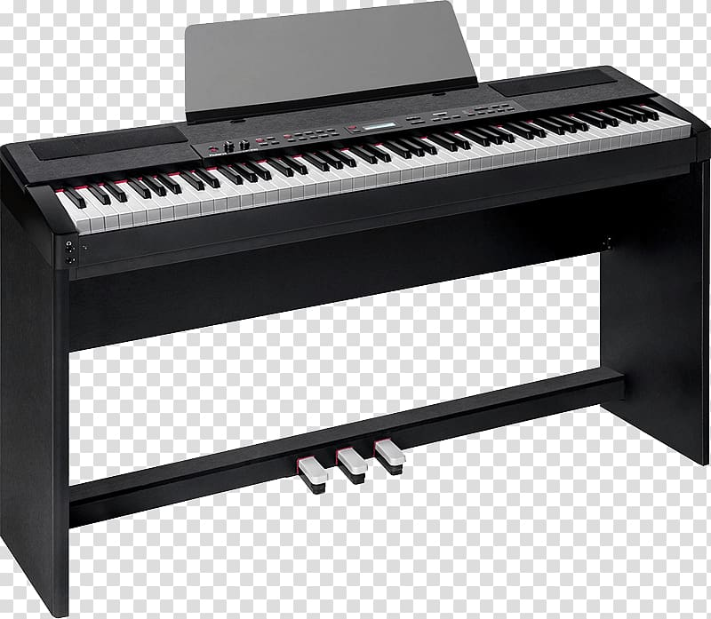 Black electronic keyboard roland. Piano clipart electric