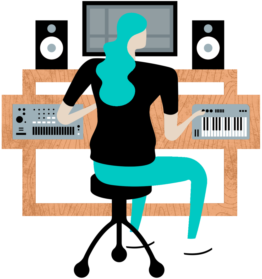 Piano clipart female pianist. Tap your creativity with