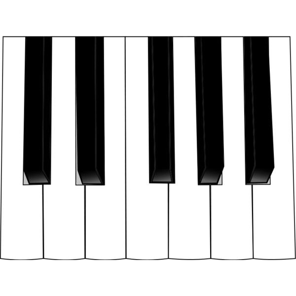 And liked on polyvore. Piano clipart full keyboard
